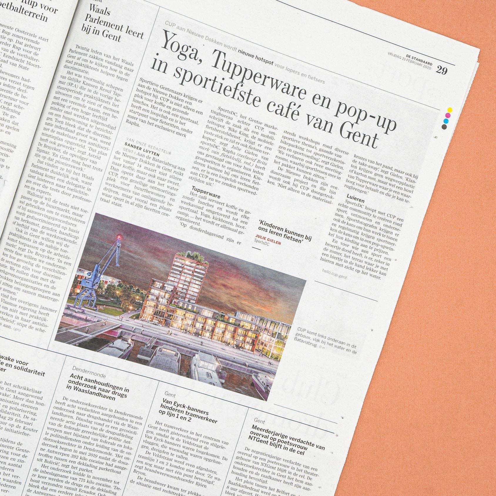 CUP.Gent - Artikel krant