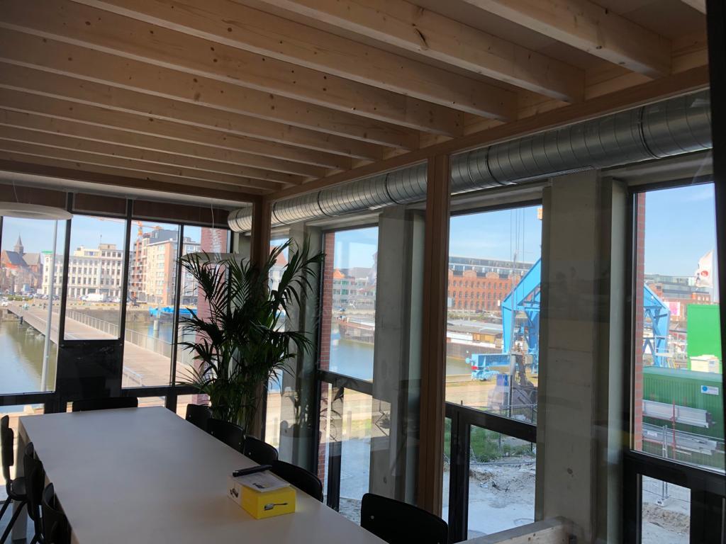 CUP.Gent - ventilatie uitzicht meeting room